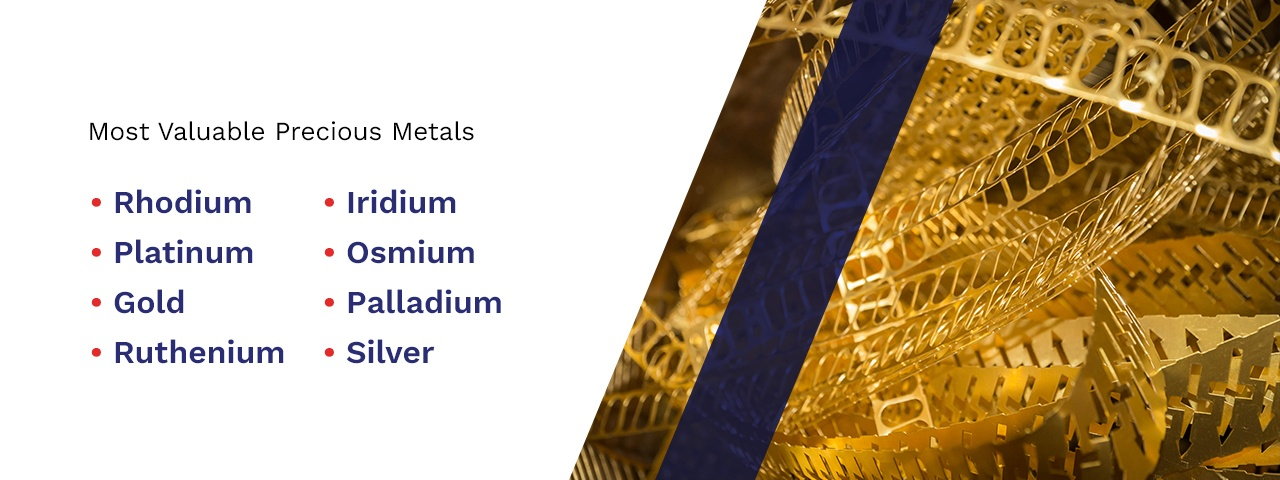 """Scrap metal with text that says """"Most valuable precious metals"""""""
